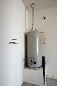 tank water heater in home